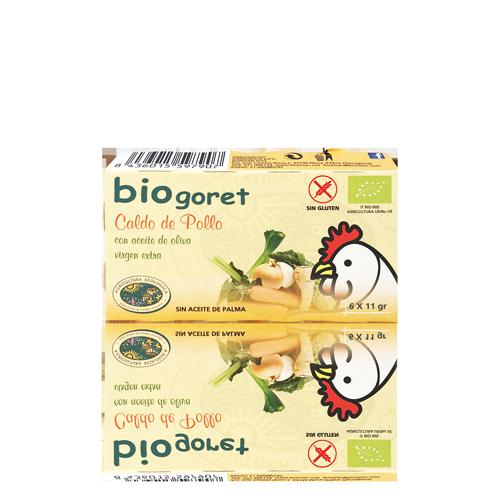 Cubitos de Caldo Pollo Bio (6x11 g) Biogoret