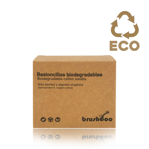 Bastonets Biodegradables (100 u) Brushboo