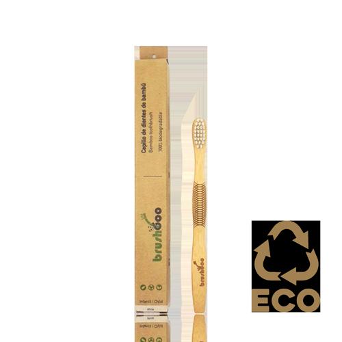 Raspall Dental de Bambú Infantil Blanc Brushboo