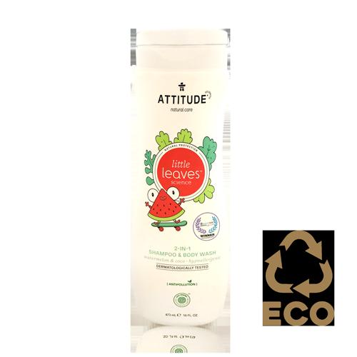 Xampú 2 en 1 Síndria Coco Little Leaves (473 ml) Attitude