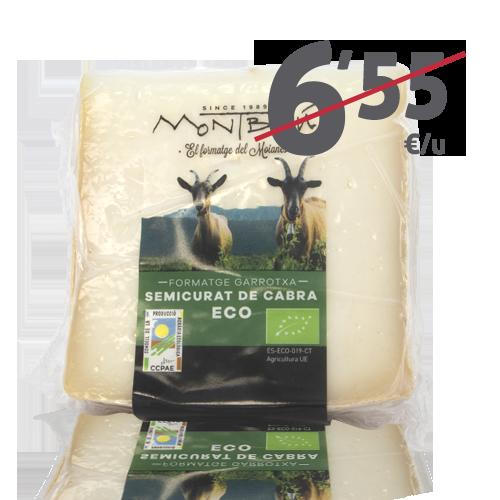 Formatge de cabra semicurat Bio (180g) Montbrú