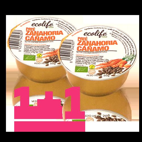 1+1 de REGALO Paté de Zanahoria i Cáñamo Bio (50 g) Ecolife