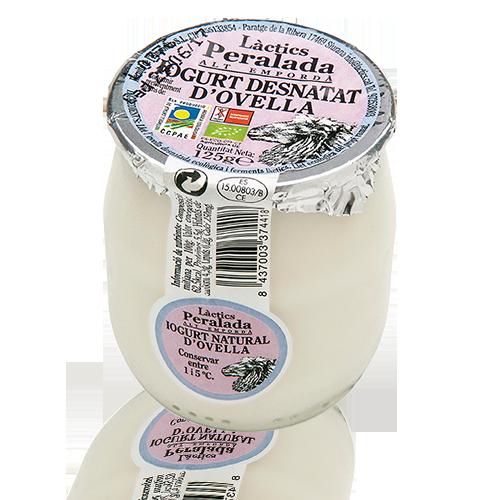 Iogurt d'Ovella Desnatat Bio (125 g) Peralada