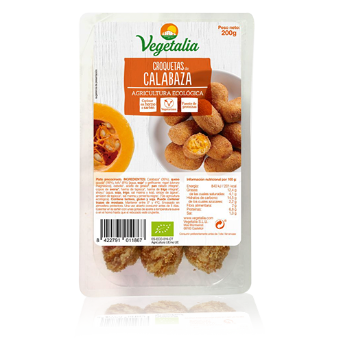 Croquetes de Carbassa Bio (180 g) Vegetalia