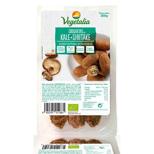 Croquetes de Kale i Xiitake Bio (180 g) Vegetalia