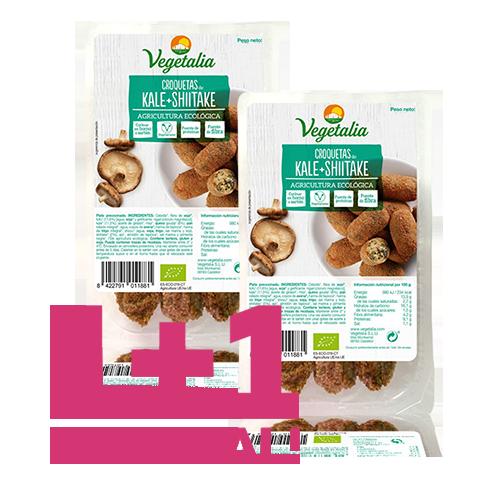 1+1 de Regalo Croquetas de Kale y Xiitake Bio (180 g) Vegetalia