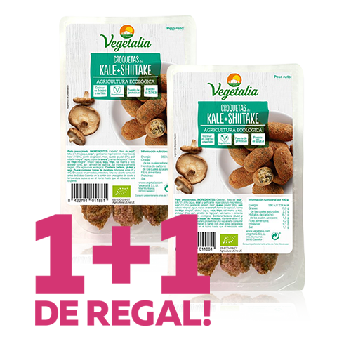 1+1 de Regal Croquetes de Kale i Xiitake Bio (180 g) Vegetalia