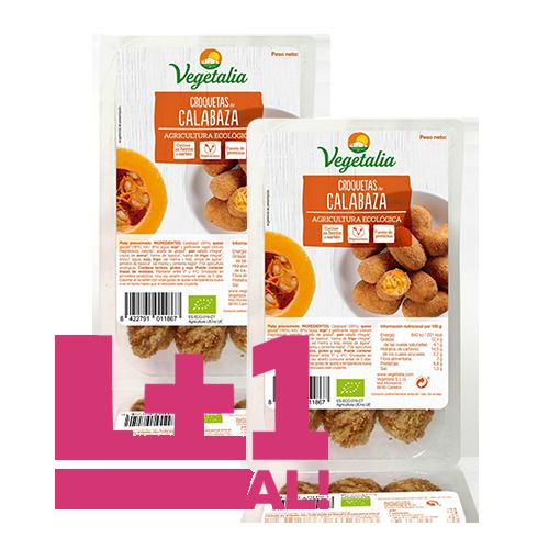 1+1 de Regalo Croquetas de Calabaza Bio (180 g) Vegetalia