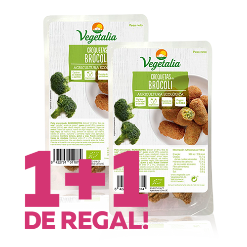 1+1 de Regal Croquetes de Bròcoli Bio (180 g) Vegetalia