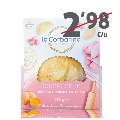 Corbarotto Ricotta Prosciutto (250 g) La Corbarina