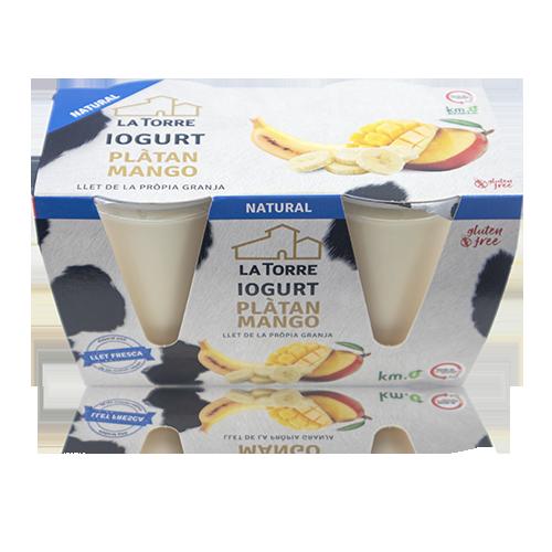 Iogurt de Plàtan i Mango (2x125 g) La Torre