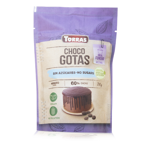 Xocolata Negra Gotes 60% (200 g) Torras