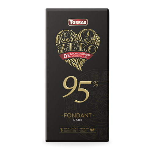 Xocolata Zero Negre 95% (100 g) Torras