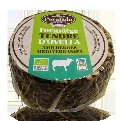 Formatge d'Ovella amb Herbes Bio (350 g) Peralada