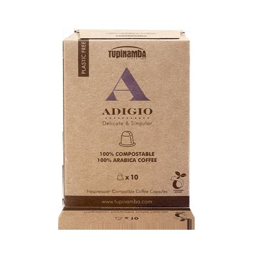 Cafè Adigio Càpsula Compostable (10 u) Tupinamba
