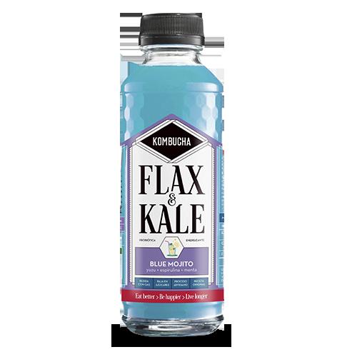 Kombucha Blue Mojito (400 ml) Flax & Kale
