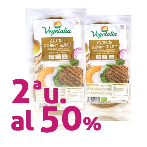 Pack 2 u. Vegeburguer Seitán y Calabaza Bio (160 g) Vegetalia