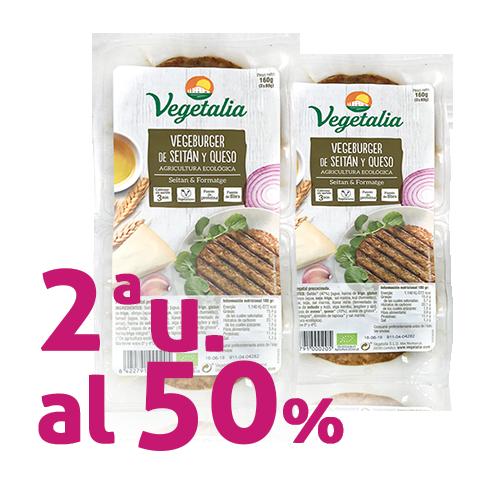 Pack 2 u. Vegeburguer Seità i Formatge Bio (160 g) Vegetalia