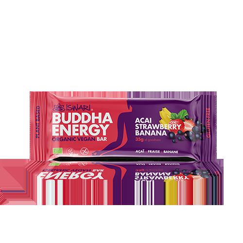 Barreta Açai, Maduixa i Plàtan Bio (35 g) Buddha Energy Iswari