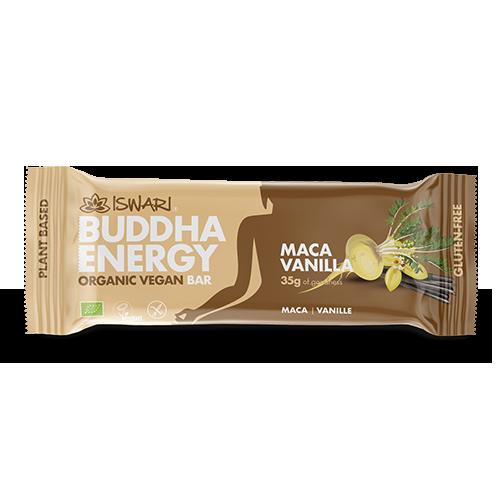 Barreta Maca i Vainilla Bio (35 g) Buddha Energy Iswari