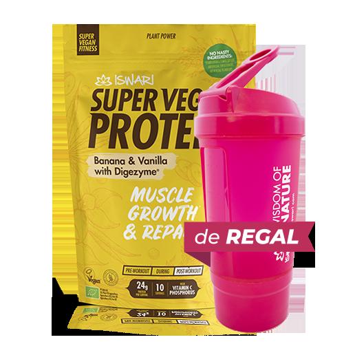 Proteïna Banana i Vainilla Bio (350 g) Iswari + de regal got medidor