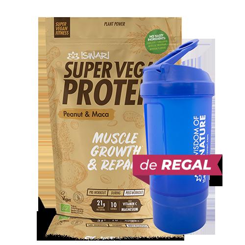 Proteïna Cacauet i Maca Bio (350 g) Iswari + de regal got medidor