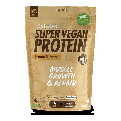 Proteïna Cacauet i Maca Bio (350 g) Iswari