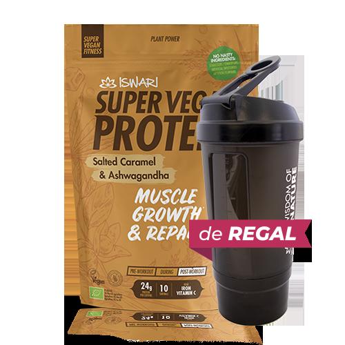 Proteïna Caramel Bio (350 g) Iswari + de regal got medidor