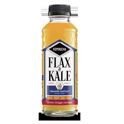 Kombucha Orange Fantasy (400 ml) Flax and Kale