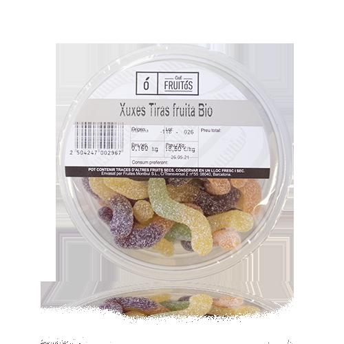 Chuches Tiras Fruta 100% Vegetal Bandeja (160 g)