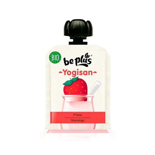 Postre BePlus Maduixa Bio (90 g) Yogisan