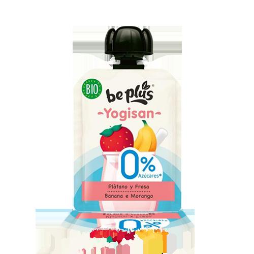 Postre BePlus Fresa y Plátano 0% (90 g) Yogisan
