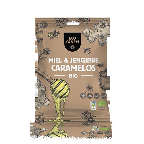 Caramelos Miel y Jengibre Bio 75g Ecocanem