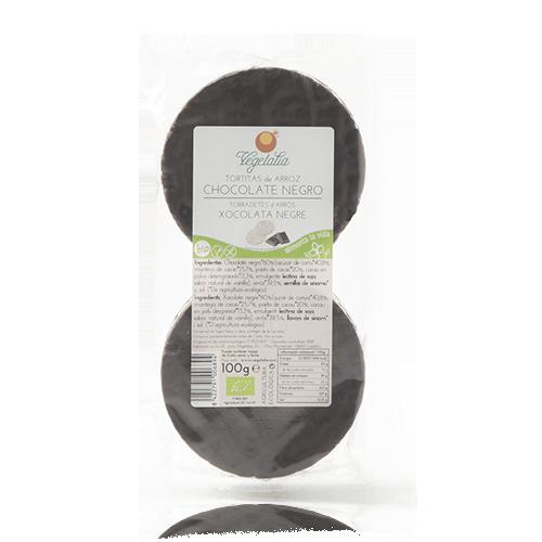 Coques d' Arròs amb Xocolata Negre 100g Vegetalia