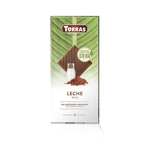 Chocolate Stevia con Leche 100g Torras