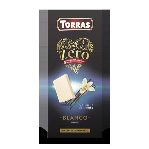 Xocolata Zero Blanca amb Vainilla 100g Torras