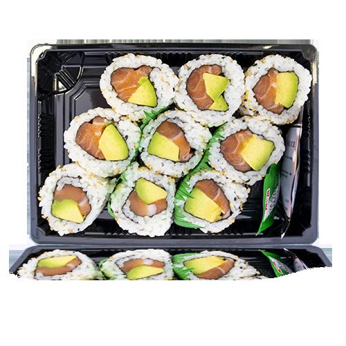 Sushi Califòrnia de Salmó i Alvocat 9u