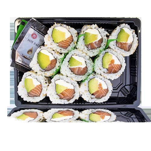 Sushi California de Salmó, Alvocat i Philadelphia 9u