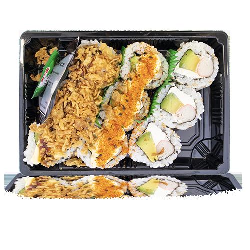 Sushi Califòrnia Surimi, Ceba, Formatge i Picant 9u