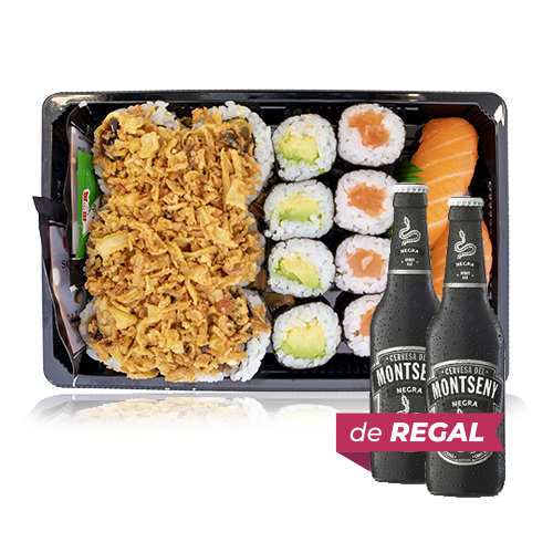 Combinado Sushi 1 + de Regalo 2u.Cerveza Negra (33 cl) Montseny
