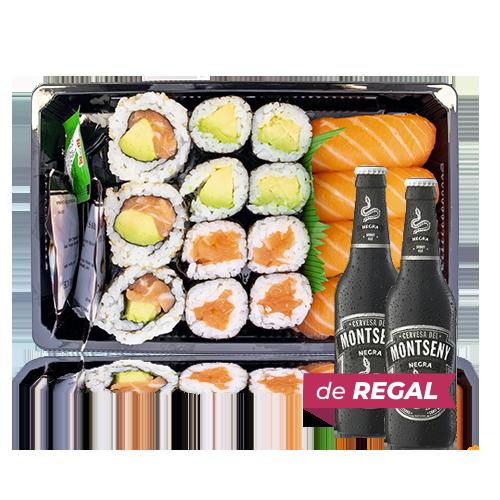 Combinado Sushi 3 + de Regalo 2u. Cerveza Negra (33 cl) Montseny