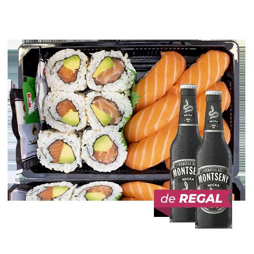 Combinado Sushi 5 + de Regalo 2u. Cerveza Negra (33 cl) Montseny