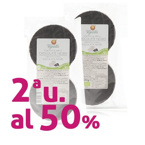 Pack 2u. Coques d' Arròs amb Xocolata Negre 100g Vegetalia