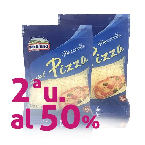 Pack 2u. Formatge Ratllat Mozzarella per Pizza (200 g) Hochland