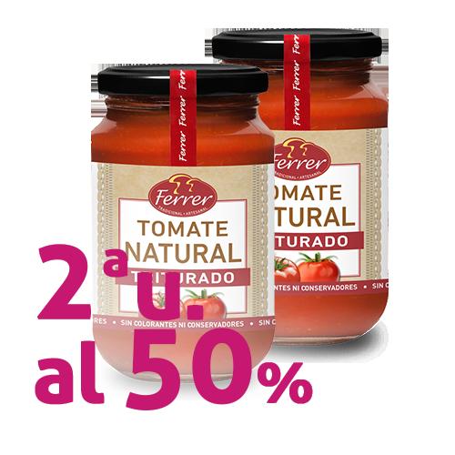 Pack 2u. Tomàquet Natural Triturat (350 g) Ferrer