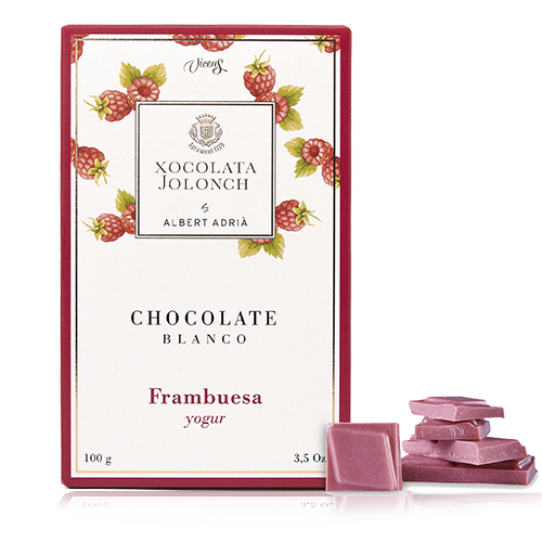 Chocolate Frambruesas y Yogur Blanco 100g Jolonch-Vicens Albert Adrià