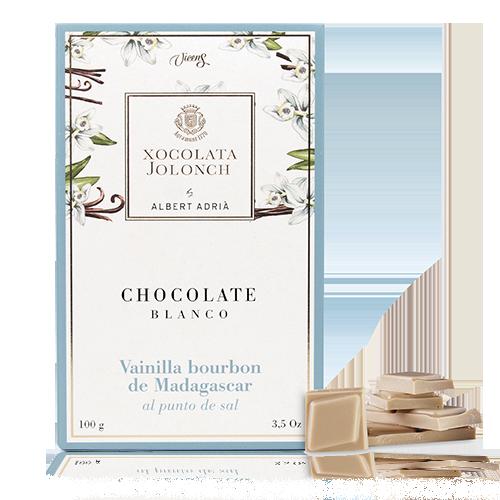 Chocolate Vainilla al Punto de Sal Blanco 100g Jolonch-Vicens Albert Adrià 100g Jolonch-Vicens Albert Adrià