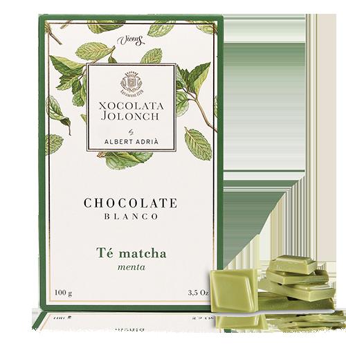 Chocolate Matcha y Menta Blanco 100g Jolonch-Vicens Albert Adrià