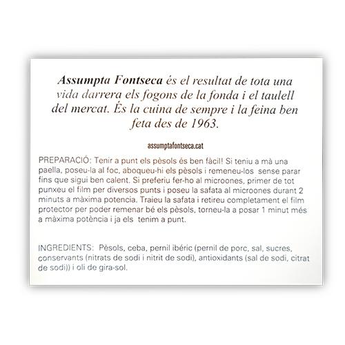 Pèsols amb Pernil Ibèric 300g Assumpta Fontseca
