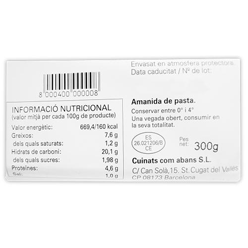 Amanida de Pasta 300g  Assumpta Fontseca